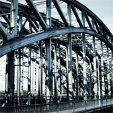 The Hohenzollern bridge in Cologne.