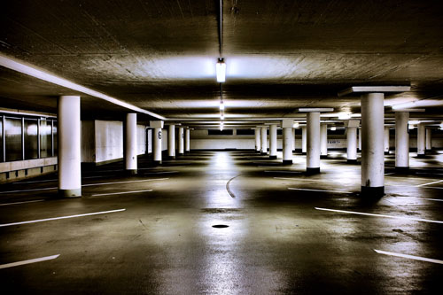 The 6. floor of the car park