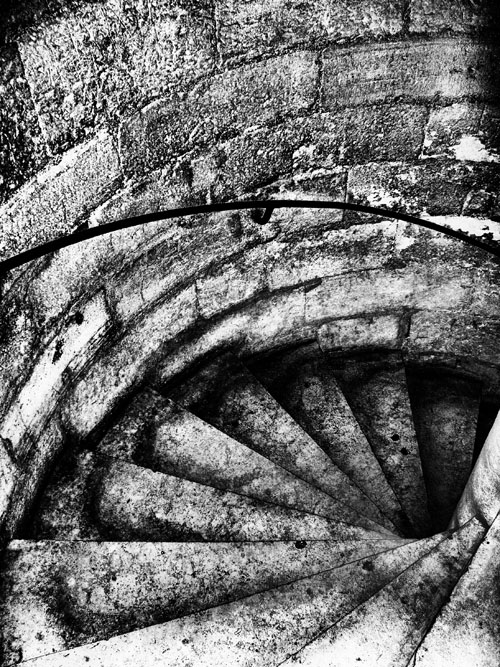 Stairs in one of the towers of the cathedral Notre Dame de Paris.
