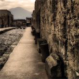 Pompeii, an antique Roman city in Italy.